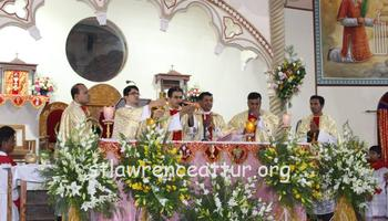The Annual Festal Celebration begin at St.Lawrence Basilica, Attur with Confraternity Sunday