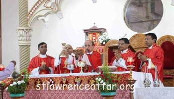 Annual Celebration of the Proclamation and Dedication & Tituar Feast of St Lawrence Minor Basilica begins